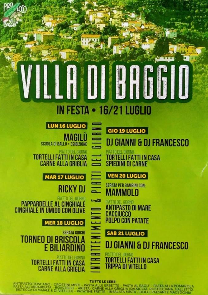 Villa di Baggio in festa dal 15 al 20 luglio
