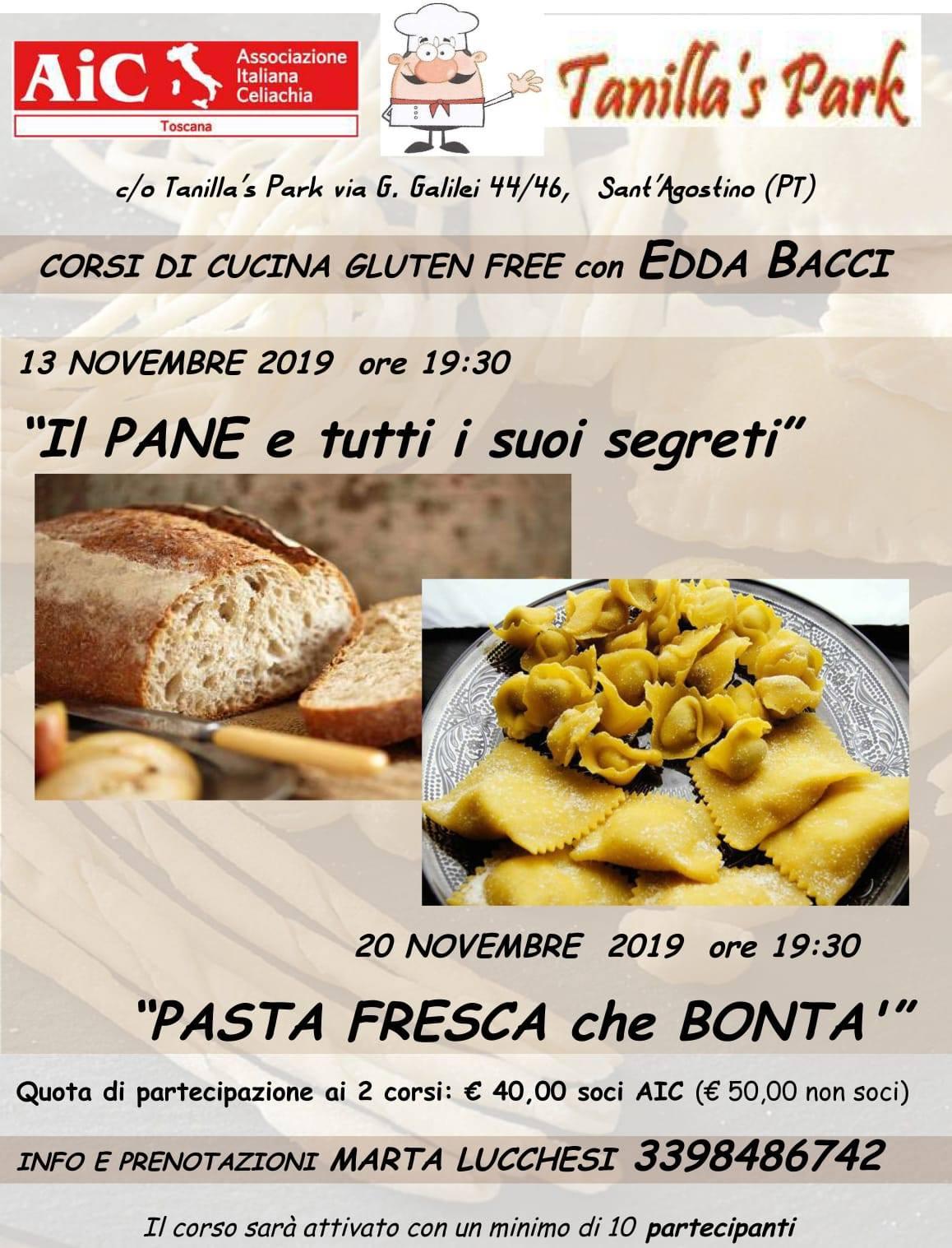 Corso di cucina senza glutine Pane e Pasta Fresca con Edda Bacci (2° giornata)