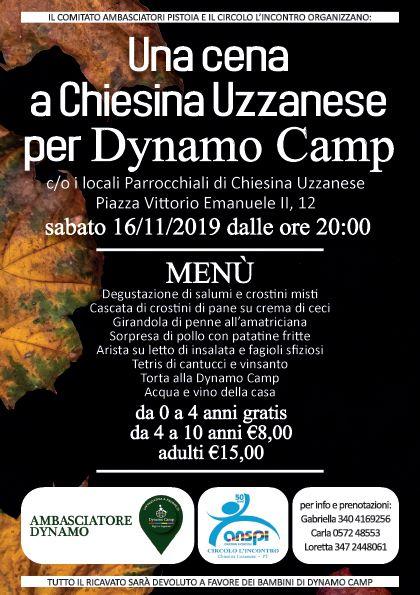 Una Cena a Chiesina Uzzanese per Dynamo Camp
