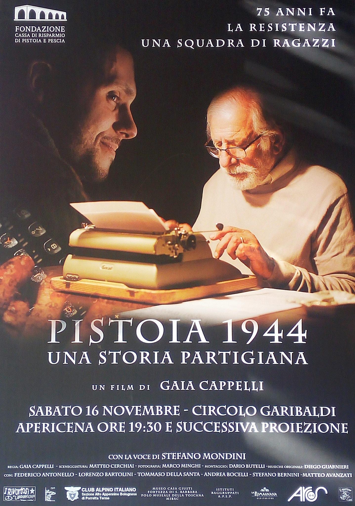 """Proiezione film """"Pistoia 1944. Una storia partigiana."""