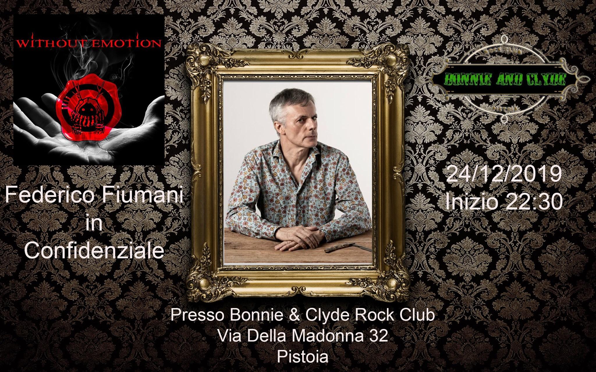 Federico Fiumani In Confidenziale Live
