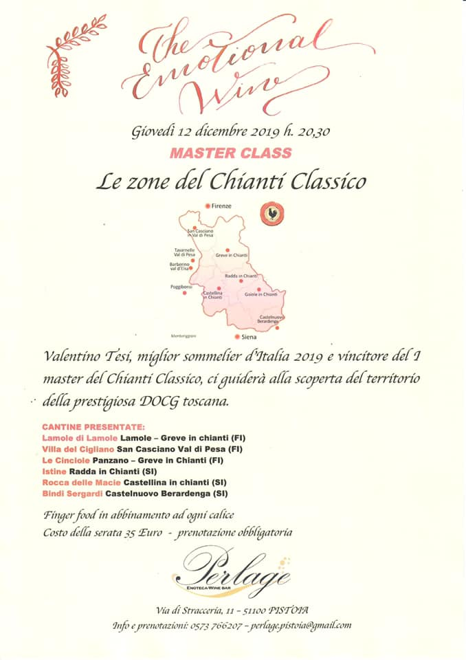 Le zone del Chianti Classico – Master Class