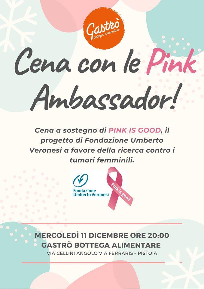 Cena con le Pink Ambassador del Team Firenze 2019