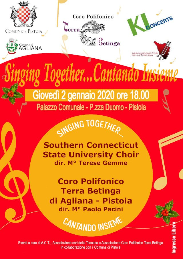 Singing together, cantando insieme