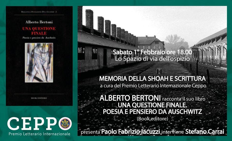 """CEPPO 2020 – Alberto Bertoni racconta """"Una questione finale"""""""