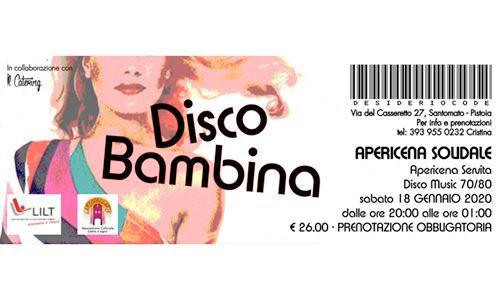 Disco Bambina – Apericena Solidale