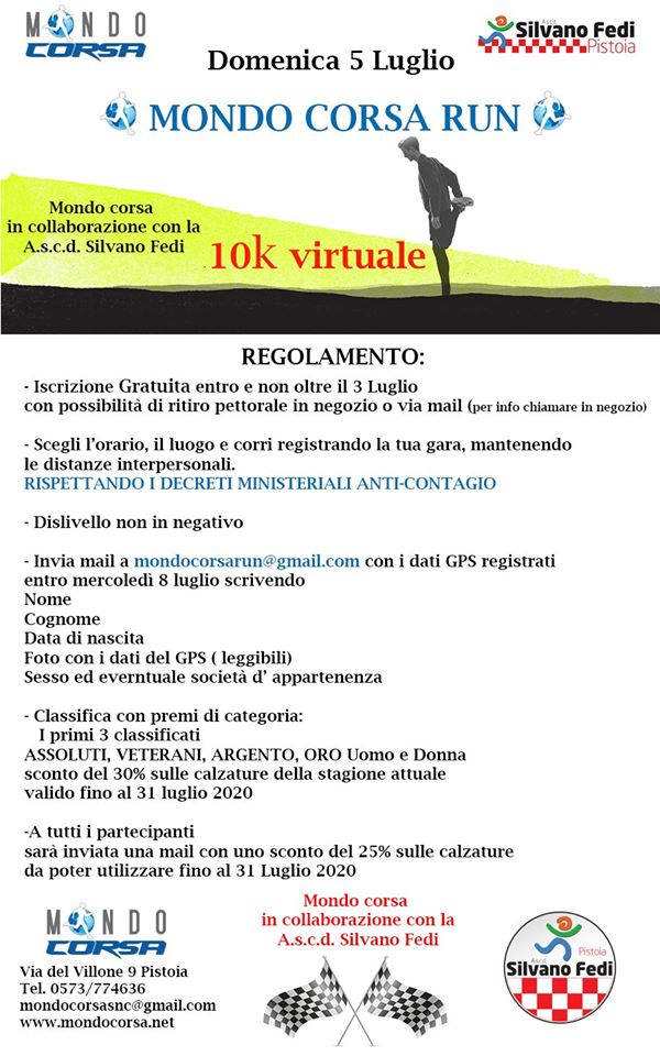 Mondo Corsa Run 10k Virtuale